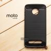 เคส Moto Z Play เคสนิ่มเกรดพรีเมี่ยม (Texture ลายโลหะขัด) กันลื่น ลดรอยนิ้วมือ สีดำ