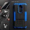 เคส Lenovo K8 Plus เคสบั๊มเปอร์ กันกระแทก Defender (พร้อมขาตั้ง) สีน้ำเงิน