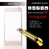 (มีกรอบ 3D แบบคลุมขอบ) ฟิล์มกระจกนิรภัย-กันรอย Vivo Y55S Tempered Glass 9H สีโรสโกลด์