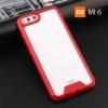 เคส Xiaomi MI 6 เคส Hybrid ฝาหลังอะคริลิคใส ขอบยางกันกระแทก สีแดง