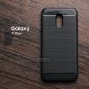 เคส Samsung Galaxy J7 Plus เคสนิ่มเกรดพรีเมี่ยม (Texture ลายโลหะขัด) กันลื่น ลดรอยนิ้วมือ สีดำ