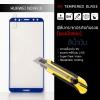 (มีกรอบ) กระจกนิรภัย-กันรอยแบบพิเศษ ( Huawei Nova 2i ) ความทนทานระดับ 9H สีน้ำเงิน