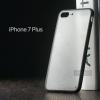 เคส iPhone 7 Plus และ 8 Plus เคสแข็งขอบยาง (ดำ) กึ่งโปร่งแสง