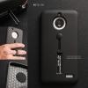 เคส Moto E4 เคส Hybrid เกรดพรีเมี่ยม 2 ชั้น ขอบยางลดแรงกระแทก พร้อม (ขาตั้ง + สายคล้องนิ้ว) สีดำ
