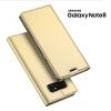 เคส Samsung Galaxy Note 8 เคสฝาพับเกรดพรีเมี่ยม เย็บขอบ พับเป็นขาตั้งได้ สีทอง
