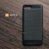 เคส Xiaomi Mi NOTE 3 เคสนิ่มเกรดพรีเมี่ยม (Texture ลายโลหะขัด) กันลื่น ลดรอยนิ้วมือ สีดำ