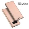 เคส Samsung Galaxy Note 8 เคสฝาพับเกรดพรีเมี่ยม เย็บขอบ พับเป็นขาตั้งได้ สีโรสโกลด์