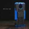 เคส Moto G5s Plus เคสบั๊มเปอร์ กันกระแทก Defender (พร้อมขาตั้ง) สีน้ำเงิน