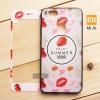 (แพ็คคู่) เคส Xiaomi MI A1 เคสขอบนิ่ม ฝาหลังแข็งพิมพ์ลายนูนสามมิติ 3D + (กระจกกันรอยมีกรอบพิมพ์ลาย) แบบที่ 7 Enjoy Summer (Strawberry)