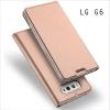 เคส LG G6 เคสฝาพับเกรดพรีเมี่ยม เย็บขอบ พับเป็นขาตั้งได้ สีโรสโกลด์