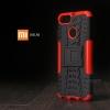 เคส Xiaomi Mi A1 เคสบั๊มเปอร์ กันกระแทก Defender (พร้อมขาตั้ง) สีแดง