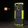 เคส Xiaomi Mi A1 เคสบั๊มเปอร์ กันกระแทก Defender (พร้อมขาตั้ง) สีเขียวอ่อน