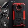 เคส Moto E4 เคสบั๊มเปอร์ กันกระแทก Defender (พร้อมขาตั้ง) สีแดง