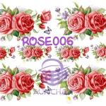 ROSE006 กระดาษแนพกิ้น 21x30ซม. ลายกุหลาบ