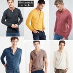 Abercrombie & Fitch Garment Dye Henley T-Shirt