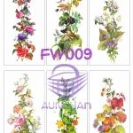 FW009 กระดาษแนพกิ้น 21x30ซม. ลายดอกไม้
