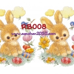 RB008 กระดาษแนพกิ้น 21x30ซม. ลายกระต่าย