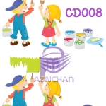 CD008 กระดาษแนพกิ้น 21x30ซม. ลายเด็ก