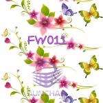 FW011 กระดาษแนพกิ้น 21x30ซม. ลายดอกไม้