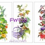 FW010 กระดาษแนพกิ้น 21x30ซม. ลายดอกไม้