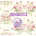 ROSE012 กระดาษแนพกิ้น 21x30ซม. ลายกุหลาบ