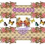 ROSE032 กระดาษแนพกิ้น 21x30ซม. ลายกุหลาบ