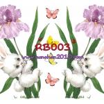 RB003 กระดาษแนพกิ้น 21x30ซม. ลายกระต่าย