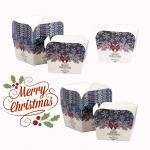 คัพเค้ก Merry Christmas สี่เหลี่ยม (1*50)