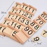 ชุดไม้หลักสิบ - ชุดบล็อคไม้ MONTESSORI Learning Set