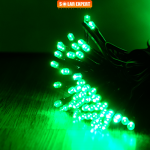ES06 ไฟประดับโซล่าเซลล์ 100LED 12เมตร สีเขียว