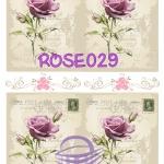 ROSE029 กระดาษแนพกิ้น 21x30ซม. ลายกุหลาบ