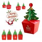 กล่องต้นคริสมาส TOP (กล่องคัพเค้ก 1 หลุม / 10 ใบ)