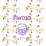 FW013 กระดาษแนพกิ้น 21x30ซม. ลายดอกไม้