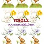 RB012 กระดาษแนพกิ้น 21x30ซม. ลายกระต่าย