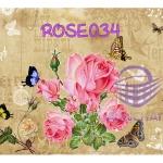 ROSE034 กระดาษแนพกิ้น 21x30ซม. ลายกุหลาบ