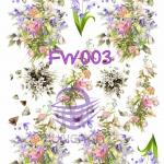 FW003 กระดาษแนพกิ้น 21x30ซม. ลายดอกไม้