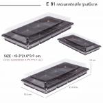E81 กล่องพลาสติกฝาใส /ฐานน้ำตาล 8หลุม (แพ๊ค /50ใบ)