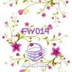 FW014 กระดาษแนพกิ้น 21x30ซม. ลายดอกไม้
