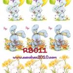 RB011 กระดาษแนพกิ้น 21x30ซม. ลายกระต่าย