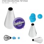 #363 OPEN STAR DECORATING TIP (Wilton 402-363)