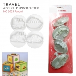 NO3023 Special day dough cutter kit transport TRAVEL (4ชิ้น)