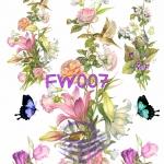FW007 กระดาษแนพกิ้น 21x30ซม. ลายดอกไม้
