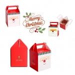 กล่องคุ๊กกี้ FACESANTA หน้าซานต้า ทรงสี่เหลี่ยมหูหิ้ว