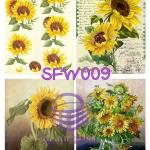 SFW009 กระดาษแนพกิ้น 21x30ซม. ลายทานตะวัน