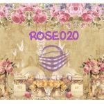 ROSE020 กระดาษแนพกิ้น 21x30ซม. ลายกุหลาบ