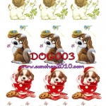 DOG003 กระดาษแนพกิ้น 21x30ซม. ลายสุนัข