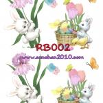RB002 กระดาษแนพกิ้น 21x30ซม. ลายกระต่าย