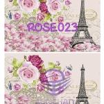 ROSE023 กระดาษแนพกิ้น 21x30ซม. ลายกุหลาบ