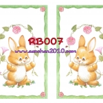 RB007 กระดาษแนพกิ้น 21x30ซม. ลายกระต่าย