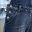 เอี๊ยมกางเกงขายาว พร้อมส่ง สียีนส์เข้ม ฟอกสีสวย แต่งขาดเซอร์ๆสุดเท่ห์ เอี๊ยมกางเกงขา 9 ส่วน พับปลายขาเก๋ แบบใหม่สไตล์เกาหลี thumbnail 6